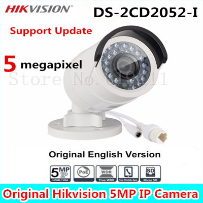 2017 HiK English Version 5MP Bullet Camera DS-2CD2052-I 5 Megapixel WDR Network Bullet IP Camera IP66 Replace DS-2CD2055-I диолд аш 1172