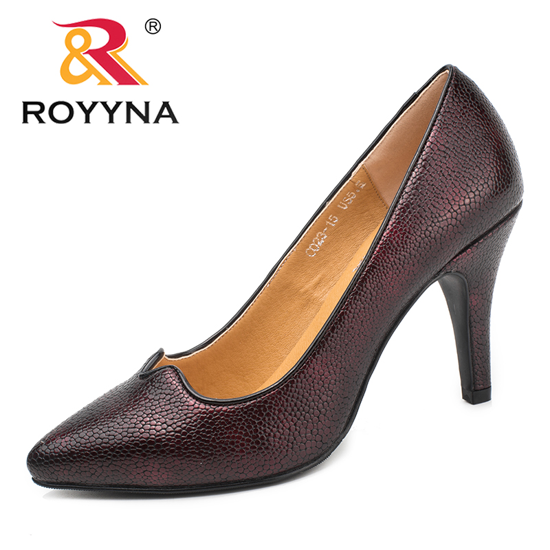 ROYYNA New Classics Style Women Pumps Pointed Toe Women Dress Shoes High Heels Lady Wedding Shoes Comfortable Fast Free Shipping siketu 2017 free shipping spring and autumn women shoes fashion sex high heels shoes red wedding shoes pumps g107