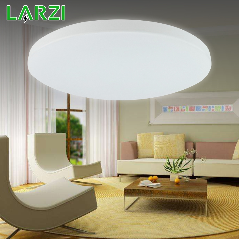 LARZI Ultra Thin LED Ceiling Lights Lighting Fixture Modern Lamp Living Room Bedroom Kitchen Surface Mount Remote Control
