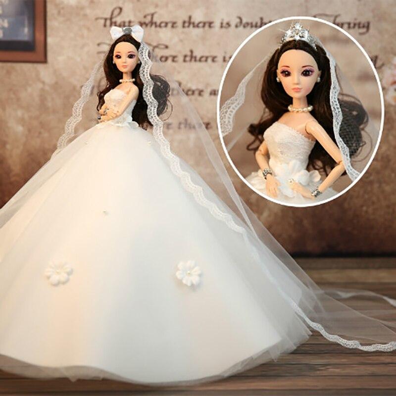 Children's Toys Wedding Dolls Rebirth Dolls Girls Toys High-end Clothes Dolls Send Girls The Best Birthday / Christmas Gifts