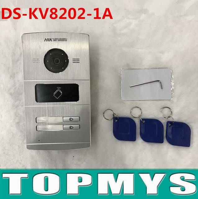 Hik Video Intercom DS-KV8202-1A(DS-KV8202-IM) Door access control machine with two button Video door phone door station