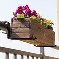 1 пара настенный цветочный горшок держатель многофункциональный балкон плантатор подставка с креплениями забор рельс растительный кроншт...