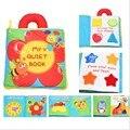 Brinquedos do bebê Educação infantil Livro de Multi-Purpose Pano Macio Livro Flor abelha meu Livro Tranquila Leia Cor Forma Presente Criativo para bebê
