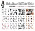 12 Sheets/Lot Nail A481-492 Mixed Sexy Marilyn Monroe Nail Art Water Sticker Decal For Nail Water (12 DESIGNS IN 1)