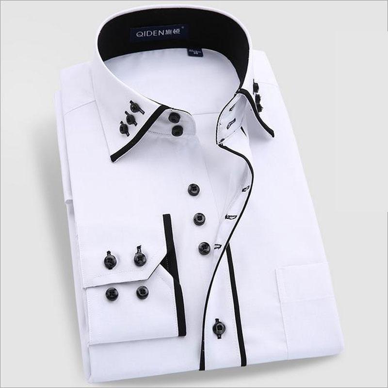 2016 new summer dress shirts camisa slim social masculina for Mens dress shirt french cuff