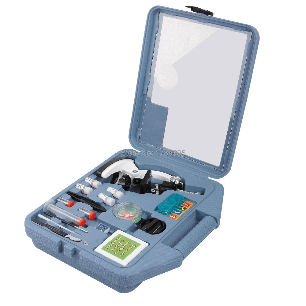 ФОТО Birthday Gift 900X Monocular student Mini Microscope Set ETM-30