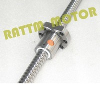 CNC Mechanical Parts 1PC SFU1605 Ballscrew L200mm + 1PC 1605Nut for BK/BF12 standard processing