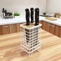 De Metal de Ferro suporte de faca cortador de assento prateleira da cozinha rack de armazenamento faca
