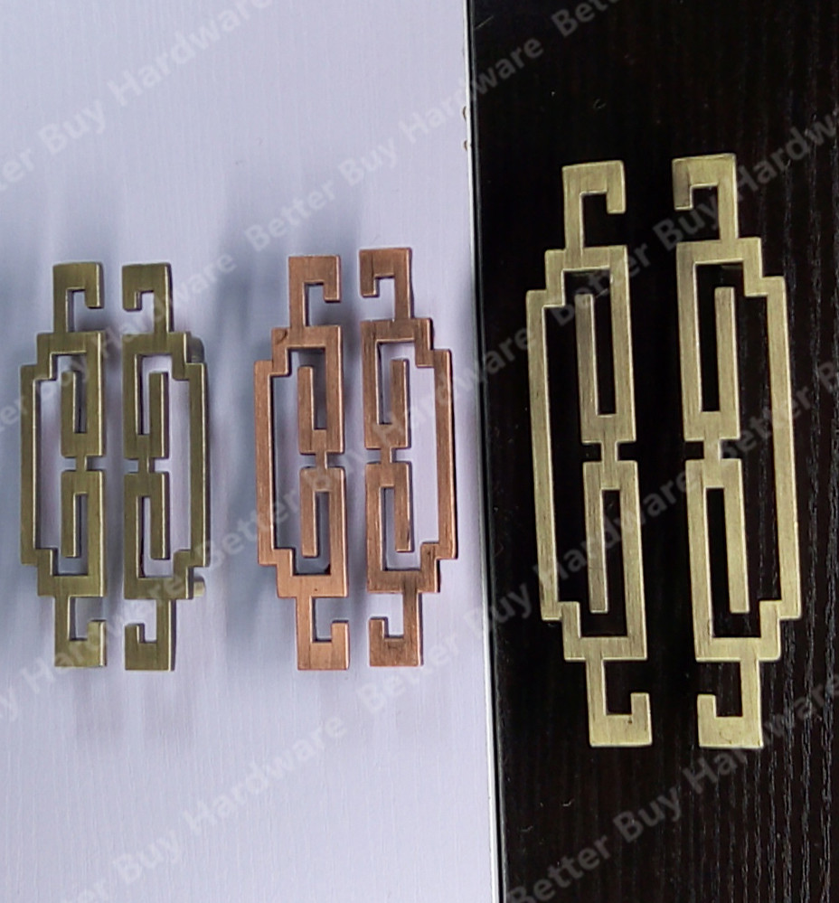 One pair 64mm/96mm Chinese Classic Style zinc alloy furniture handles pulls knobs for cabinets cupboards drawers
