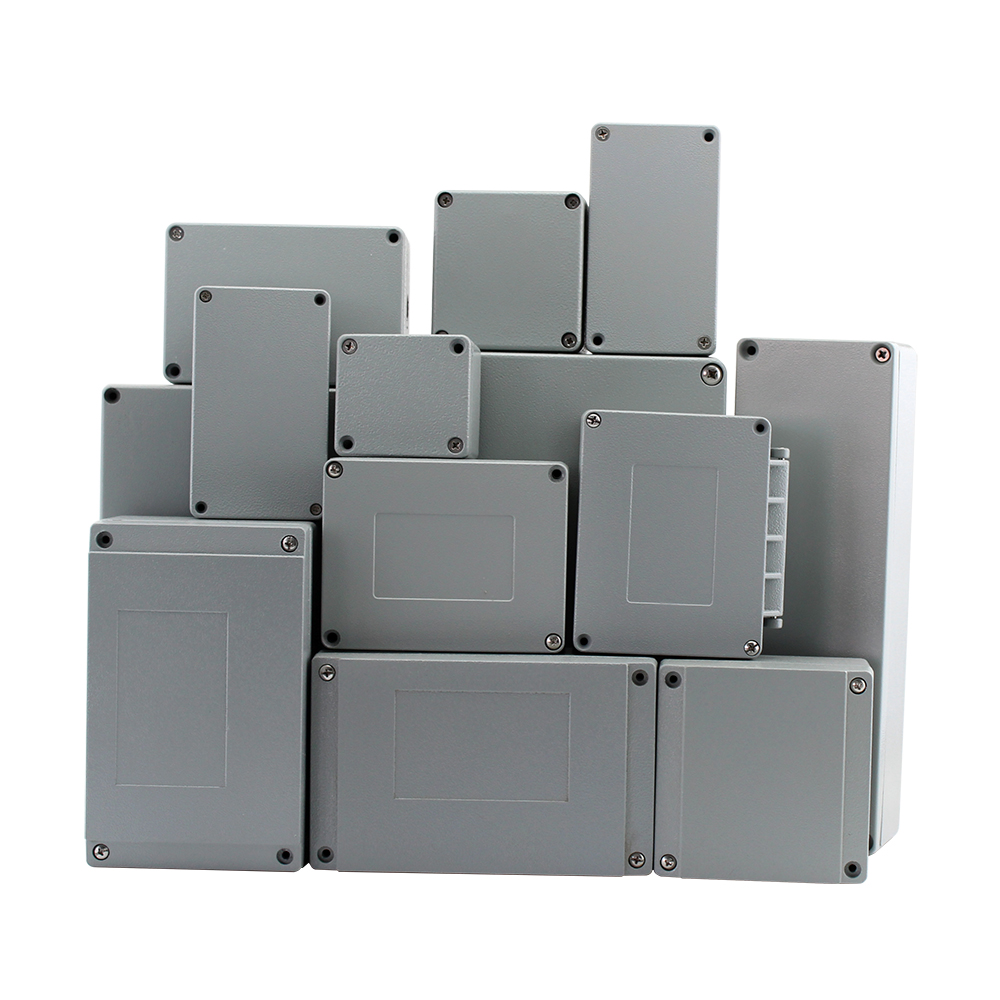 Waterproof IP66 Aluminum Electrical Terminal Wiring Connect Junction Box General Metal Project Enclosure, Abrasion Resistant