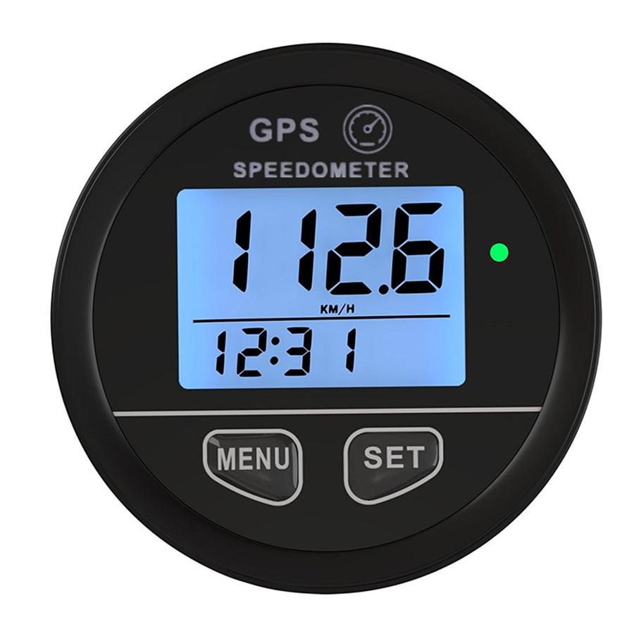 Rétro-éclairage bleu 52mm GPS compteur de vitesse jauge odomètre compteur de batterie tableau de bord numérique 12 v 24 v Mph Kmh pour voiture camion bateau moto