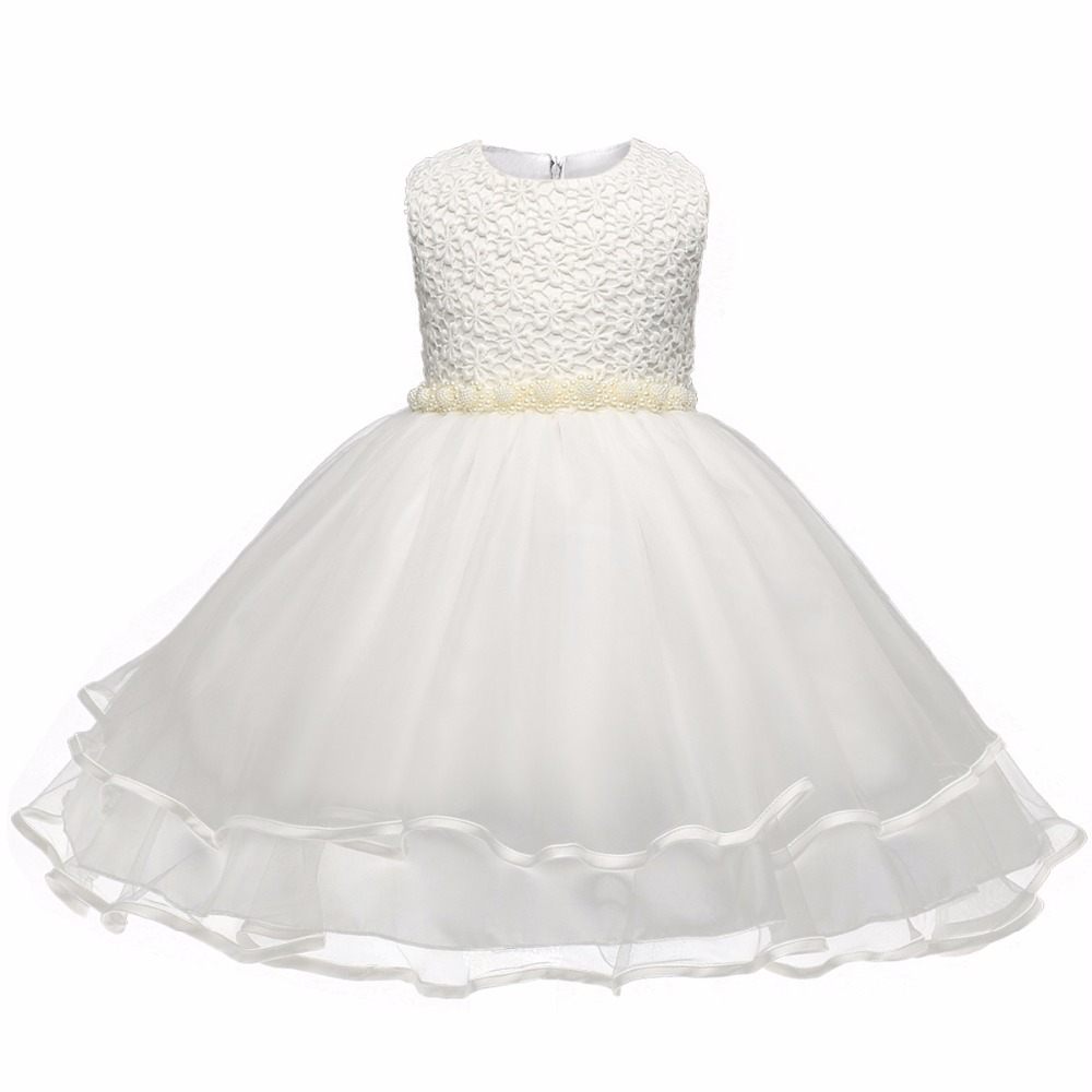 New Flower Girl Baptism Dress Birthday 6 7 8 Princess Children Ball Clothing for kids dresses girls clothes Summer Formal dress girl new party dress summer 2017 wedding tulle princess children ball clothing girls clothes toddler kids dresses size 6 7 8