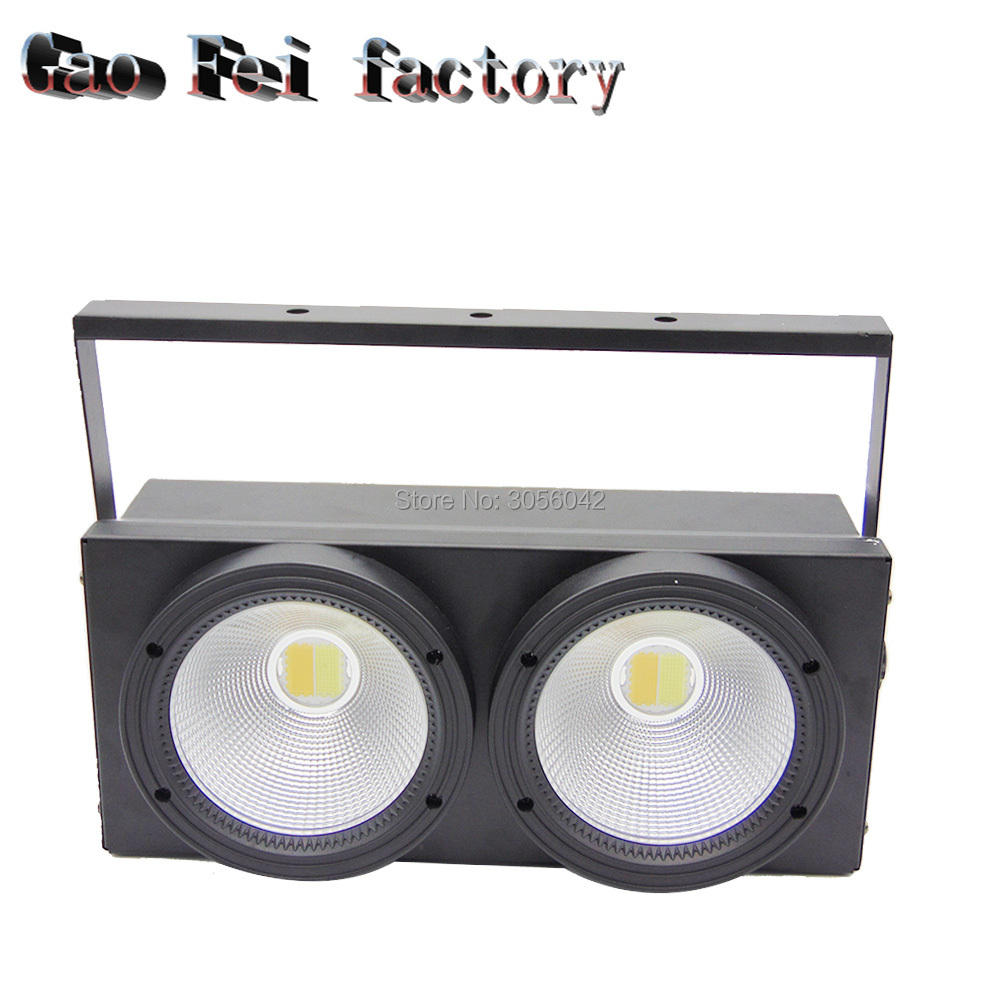 2eyes 2x100W LED DMX512 Stage Lighting Effect 200W Warm White DMX COB 2pcs lot 2 eyes 2x100w led cob light dmx512 stage lighting effect warm white and cold white 200w led blinder light fast shipping