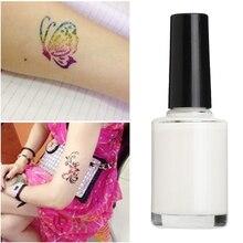 1 бутылка 15 мл одноразовые цветные блестящие татуировки белый гель Вспышка порошок татуировки клей боди-арт Краска водостойкие инструменты для макияжа TSLM2
