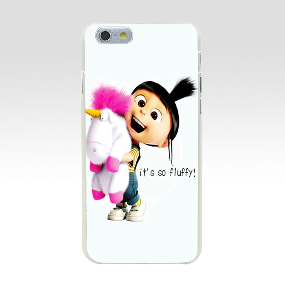 Minason For iphone 7 case Despicable Me Agnes It S So Fluffy Hard PC Case for iPhone 5C 5 S SE 5S 6 6S 7 8 Plus Cover Phone Capa
