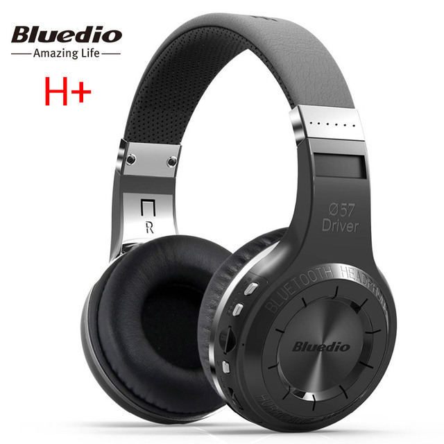 100% Original Bluedio H Plus Hurricane Bluetooth 4.1 Wireless Stereo Bass Headphones Headset Mic FM Radio for iPhone 5 5S 6