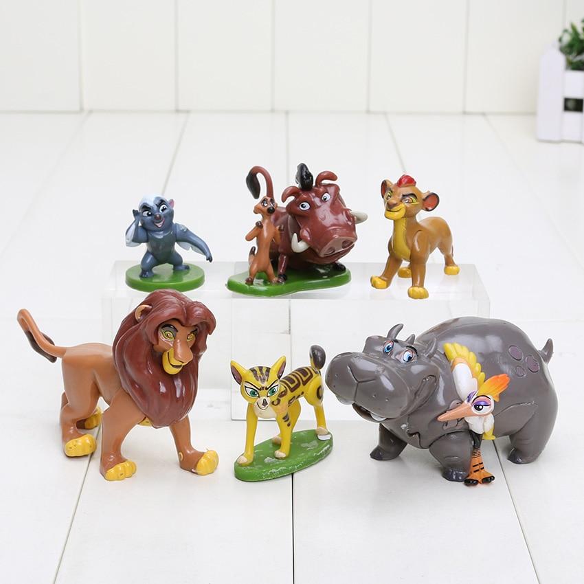 6pcs/Set The Lion King Simba Nala Timon Model Figurine PVC Action Figures Toys childrens christmas gift figurine