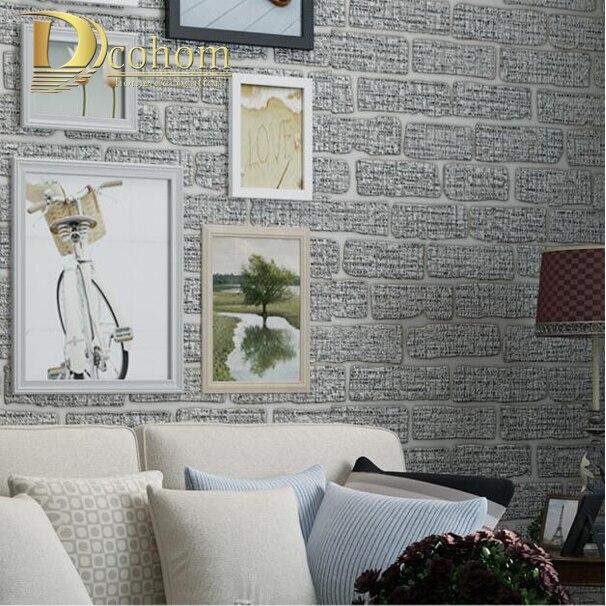 US $15.89 54% OFF|Mittelmeer Beige Grün Grau Braun Geprägt Ziegel Wand  Tapete Schlafzimmer wohnzimmer Moderne Dekoration 3D Wand papier-in Tapeten  aus ...