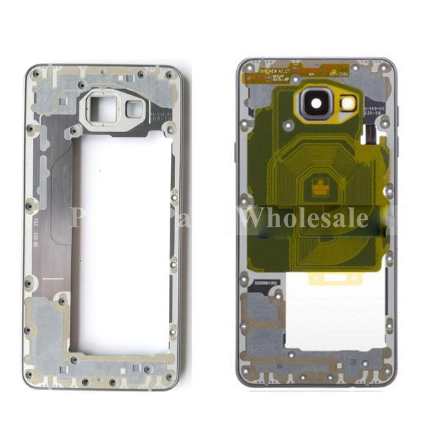 For Samsung Galaxy A7 2016 A710F A710M A710FD  Original Front Middle Frame Bezel NFC Chip + Loudspeaker + Camera Lens + Button