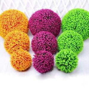 Большие искусственные растения Милана травяной шар пластиковые шарики из бокса эвкалиптовые шарики для свадебной вечеринки для дома и ули...