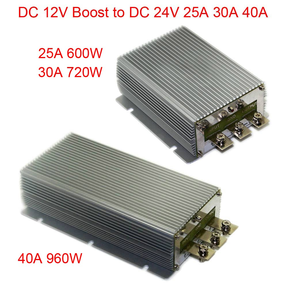 Hot DC 12V Boost to DC 24V 25A 30A 40A Power Supply Converter Module Waterproof Output short circuit protection aluminum rs232 to rs485 converter with optical isolation passive interface protection