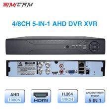 Видео Регистраторы 4CH 8CH DVR XVR 1080 P 5 в 1 для AHD аналоговая камера ip-камера P2P NVR системы видеонаблюдения H.264 Поддержка App