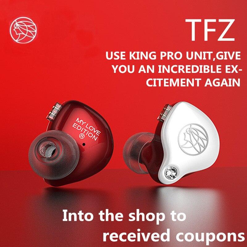 Mylove TFZ edição Em fones de ouvido Fone de Ouvido Duplo Magnetic Circuit Unidade de Bobina Móvel Música de Qualidade de Som do Fone de ouvido de Metal Baixo Pesado PK t2
