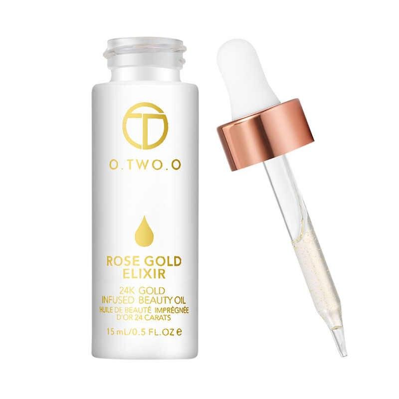 O. DUE. O 24k Oro Rosa Elixir Della Pelle Make Up Olio Viso Essenziale Olio Prima di Primer, base trucco Prodotti di base Idratante Viso Anti- invecchiamento TSLM1