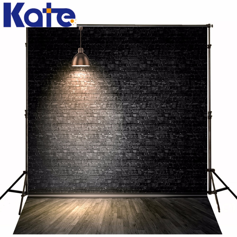 Kate Digital Printing Backdrops Black Brick Wall Backdrop Wood Floor Photo Studio Background For Children сумка kate spade new york wkru2816 kate spade hanna