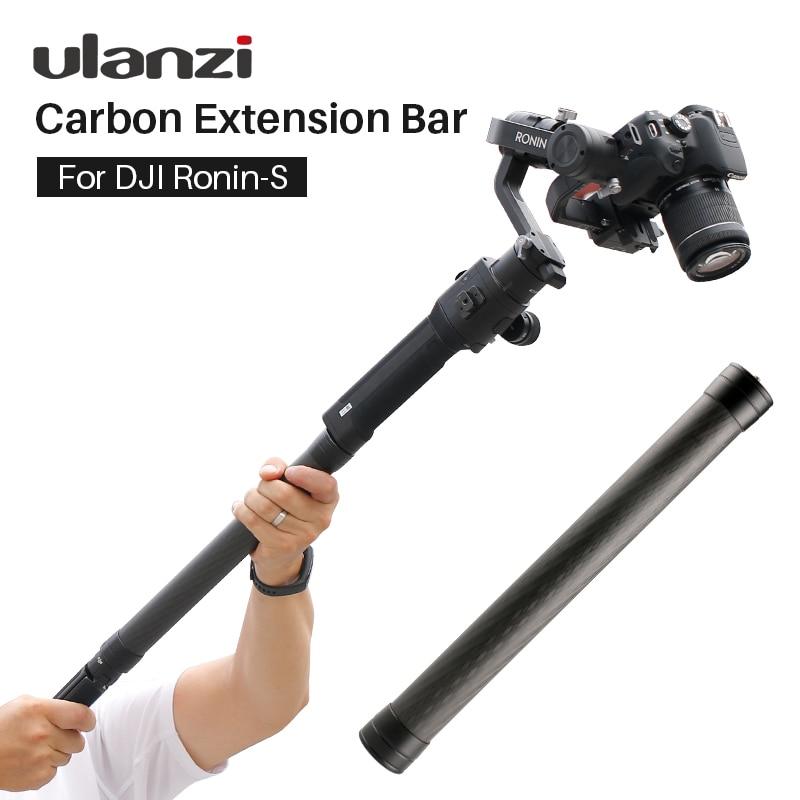 Fibra de carbono extender Rod Pole Stick para Dji Ronin S Osmo Vimble 2 grúa Suave 4 Feiyu G6 G5 AK4000 a2000 telescópica mano