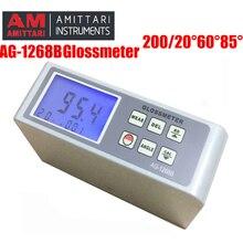 AG-1268B glossmeter 20 60 85 цифровой измеритель блеска, Glossmeter многоугольный тестер краски, измеритель блеска поверхности, тест-спектрометр