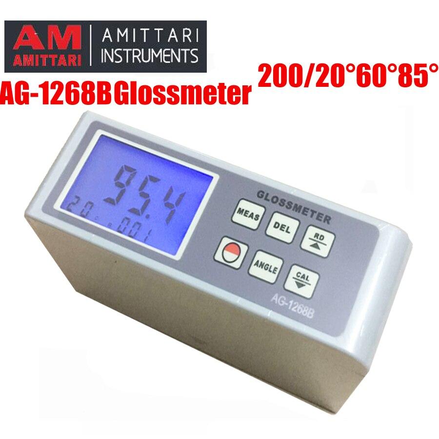 AG-1268B 20 60 85 Digital medidor de brilho Gloss Meter, medidor de teste de Multi-ângulo medidor de brilho de superfície de pintura de lustro teste espectrômetro