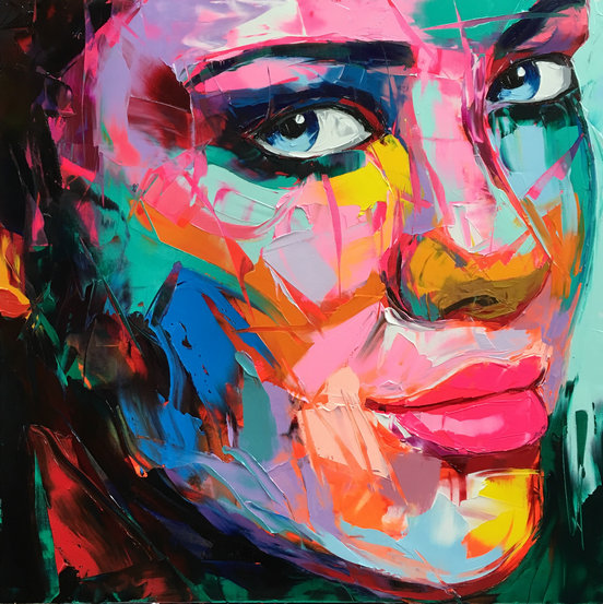 Painting Art  Neilly Abstract Woman Face Modern Decorative Canvas Oil Custom