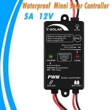 Y-SOLAR 5A солнечный заряд и регулятор разряда 12 в водонепроницаемый Солнечный регулятор для Max 60 Вт 24 В солнечная панель Вход Открытый использование