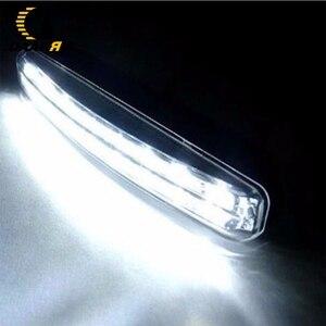 Image 2 - Car Motercycle Light 8 High Power LED DRL Fog Driving Daylight Daytime Running 6000K White Lamp Day Light DRL High Quality