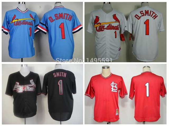 792b7fc64 ... switzerland free shipping hot sale mens st.louis cardinals jersey 1  ozzie smith blue red