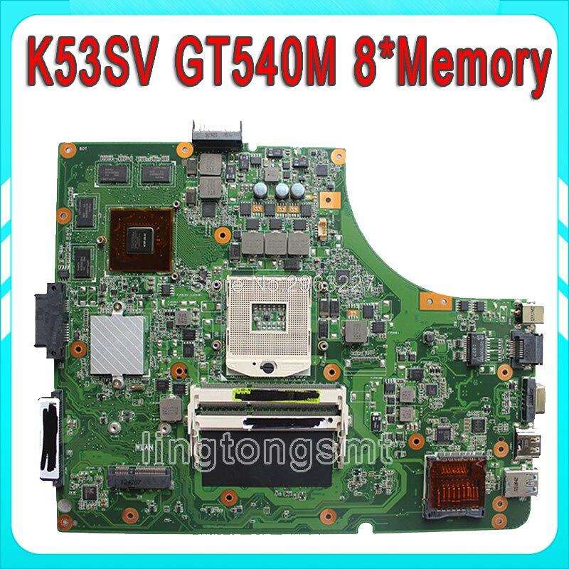 K53SV материнская плата 3,0/3,1 для ASUS K53SV P53S K53SC K53SJ K53S X53S K53SM Материнская плата ноутбука GT540M/2 Гб видеокарта