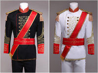 British Ternos Masculino Costume Homme Vintage European Court Suits Mens Tuxedo Korean Palace Performances King Prince
