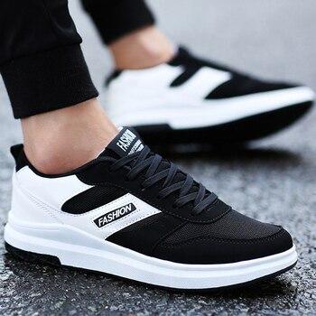 Клиновидная платформа для мужчин's вулканизировать обувь мелкая дышащая суперзвезда бренд спортивная обувь увеличивающая рост 2018 Новы