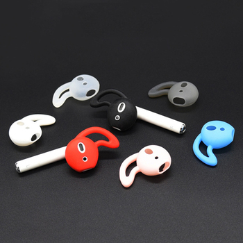 Singel Silicone Earphone Cap Cover Bluetooth Wireless Headset Cap Ear Hook Earbuds tips Caps for iPh