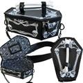 Стимпанк готический вампир кость гроб мешок череп скелет женская сеть crossbody сумки коробку rpo6 tote бат harajuku косплей сумка