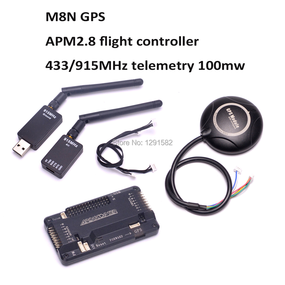 APM 2,8 APM 2,8 рейса плате контроллера сбоку pin + M8N gps + 433 мГц/915 мГц 433 915 телеметрии для RC F450 500 мм quadcoper