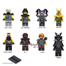 50 pcs Ninja Cobra Jaguar Lucas Chopper Maroon Hutchins Sr Cunningham Ultra Violeta E Misako Garmadon figuras building blocks(China)