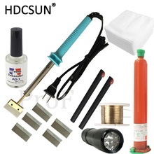 TP-2500 UV glue Optical Clear Adhesive dispergator + uv light  solder iron Hot Blade Decal Remover glue LCD touch screen repair