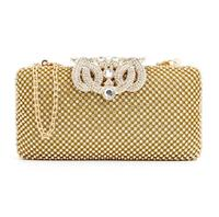 Luxury Rhinestone Silver Gold Crystal Evening Clutch Bags Women Chain Purse Wedding Party bags should handbag