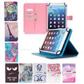 10 inch Leather Tablet Cover Case For RoverPad Tesla 10.1 inch Universal Cover Printed Tablet Stand cases+3 Gifts
