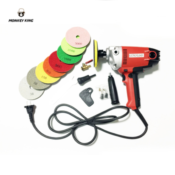 цена на 900w Electric marble granite wet Stone Polisher grindeHand Grinder Water Mill Variable Speed w/ 7 Pcs Pad variable speed
