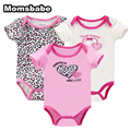 BABY BODYSUITS 3PCS 100%Cotton Infant Body Bebes Short Sleeve Clothing Sets Jumpsuit Printed Baby Boy Girl Bodysuits