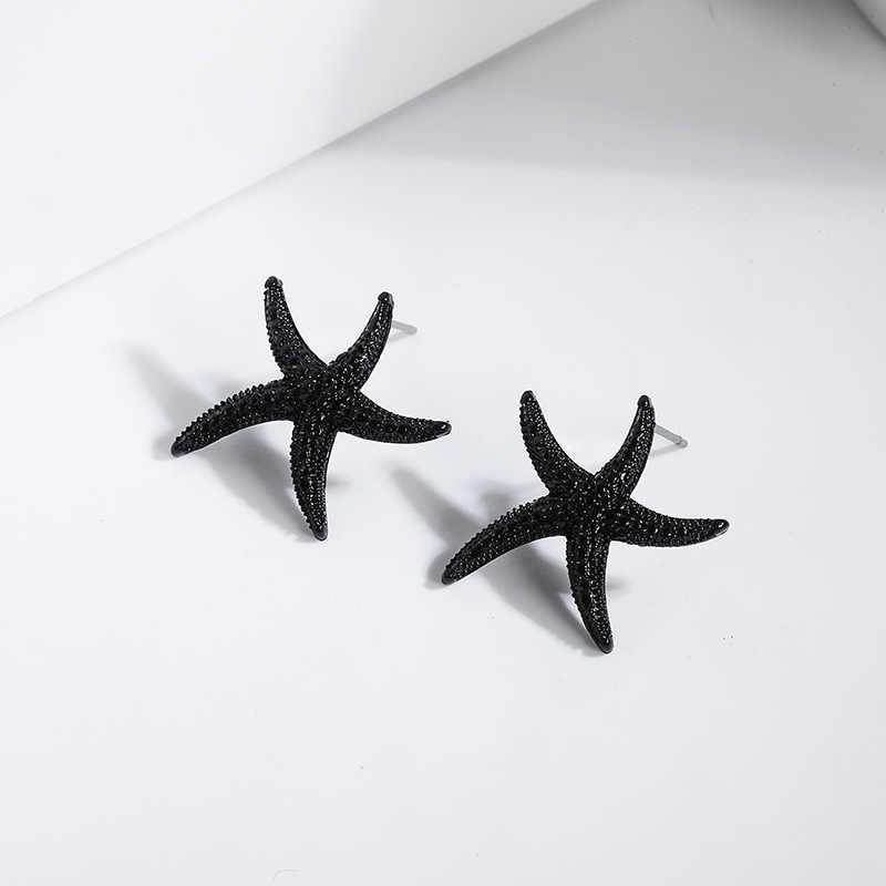 2020 Pendientes Aretes Rumbai Anting-Anting Korea Baru Telinga Perhiasan S925 Jarum Berlebihan Bintang Laut Kuku Wanita Anti Alergi