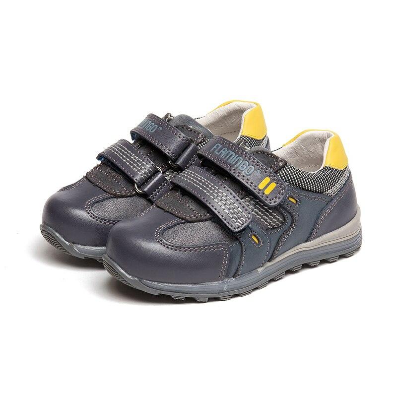 FLAMINGO respirant crochet et boucle Patchwork printemps et été extérieur orthèse soutien de l'arc taille 22-27 chaussures décontractées pour garçon 81P-XY-0646